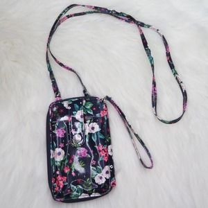 Express Floral Vegan Leather Phone Cross Bag